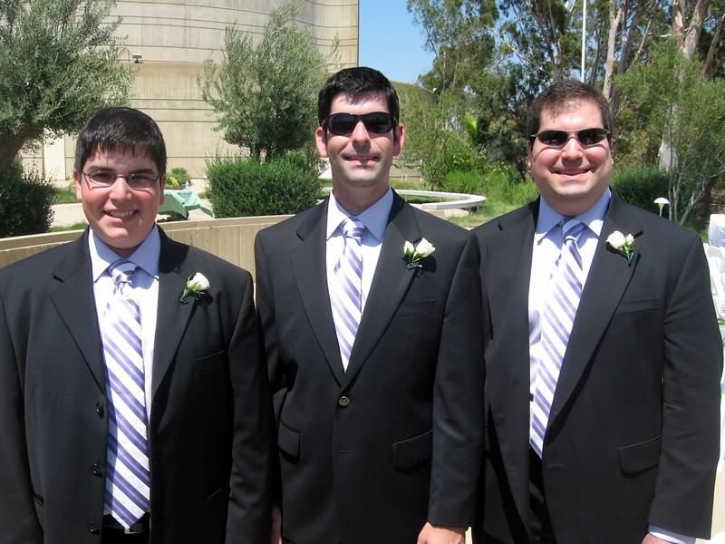 Jordan (l), David, and Craig (brothers of the bride)