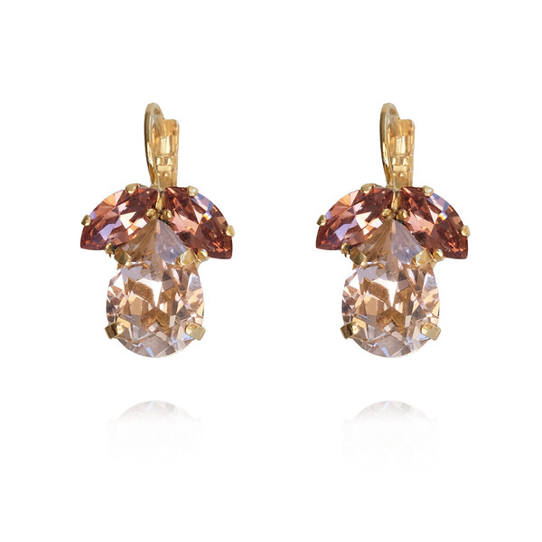 Timo Earrings / Vintage Rose / Gold
