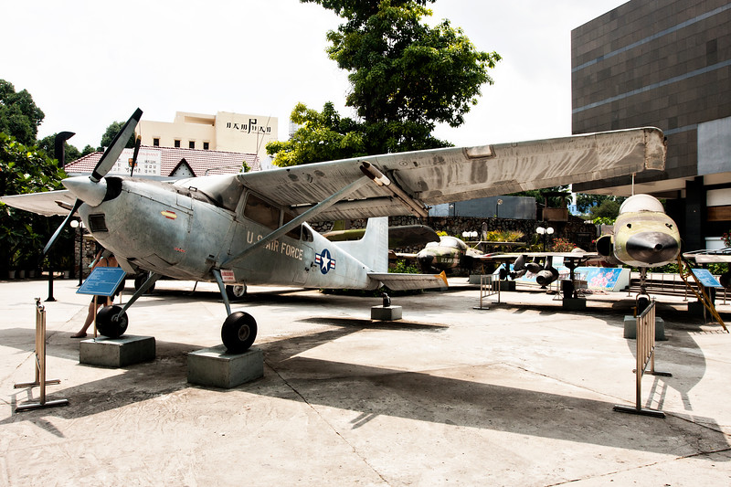 The War Remnants Museum. I have to admit, I wasn't expecting to find U.S. aircraft in Saigon.