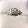1.18ctw Art Deco Princess Halo Ring 19