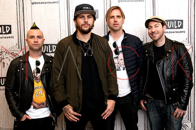 """NEW YORK, NY - MAY 15:  Build Presents Johnny Crist, M. Shadows, Brooks Wackerman and Zacky Vengeance of Avenged Sevenfold discussing their tour and new album """"The Stage"""" at Build Studio."""