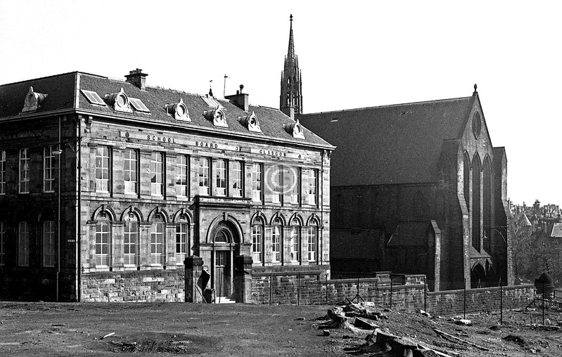 Townhead School and Barony Church again.  December 1975