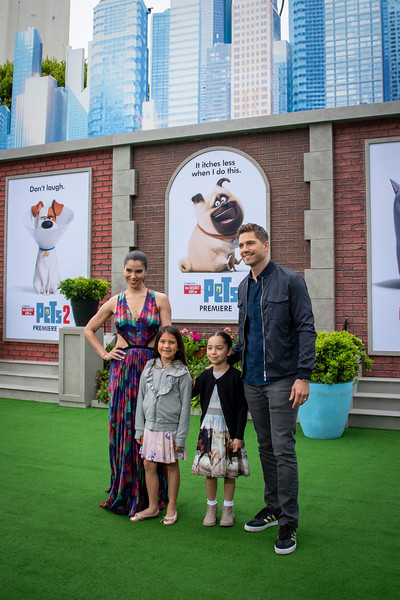 WESTWOOD, CALIFORNIA - JUNE 02: Roselyn Sanchez, Eric Wynter, Sebella Rose Winter, and Dylan Gabriel Winter attend the Premiere of Universal Pictures' 'The Secret Life Of Pets 2' at Regency Village Theatre on Sunday, June 02, 2019 in Westwood, California. (Photo by Tom Sorensen/Moovieboy Pictures)