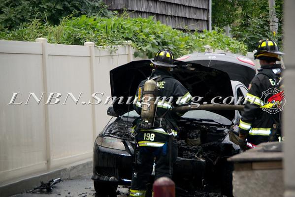 Merrick F.D. Car Fire Sunrise Hwy. Dunkin Donuts 8-6-11