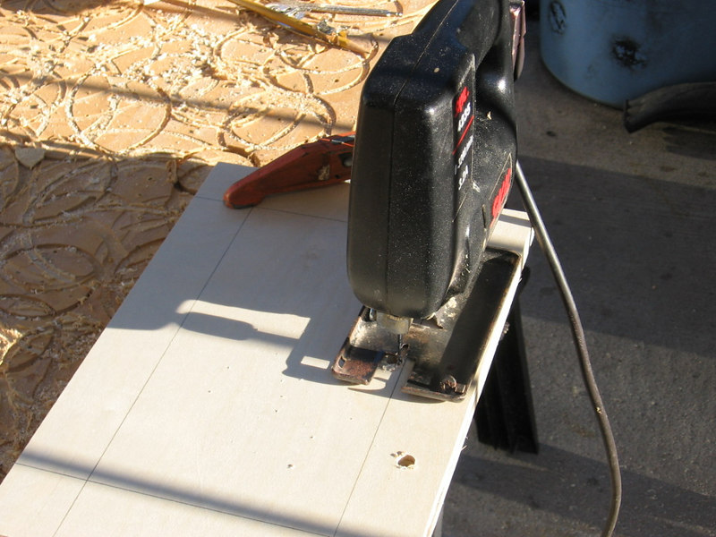 """I also drilled a separate 1/2"""" hole to serve as a wire conduit."""