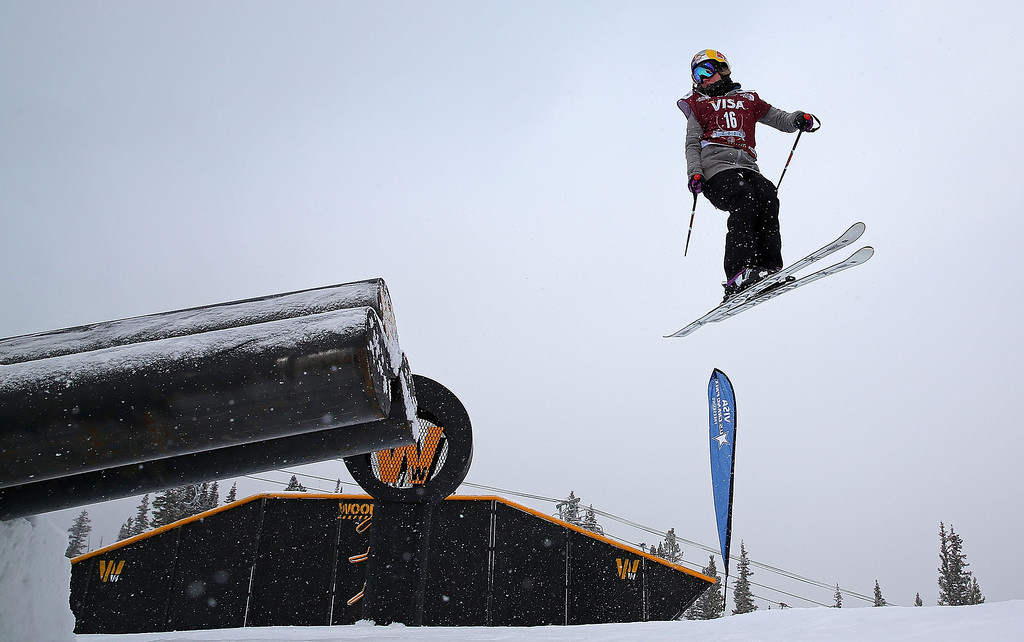 . Lisa Zimmerman of Germany competes during qualifying for the women\'s FIS Ski Slopestyle World Cup at U.S. Snowboarding and Freeskiing Grand Prix on December 20, 2013 in Copper Mountain, Colorado.  (Photo by Mike Ehrmann/Getty Images)