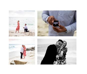 Jordan and Kim's Windansea Beach surprise wedding proposal