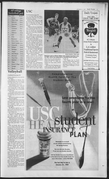 Daily Trojan, Vol. 130, No. 1, January 09, 1997