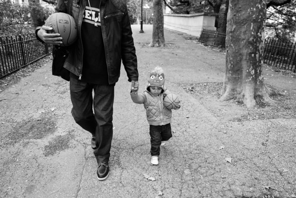 Oct 14, 2012: Cash and Daddy basketball
