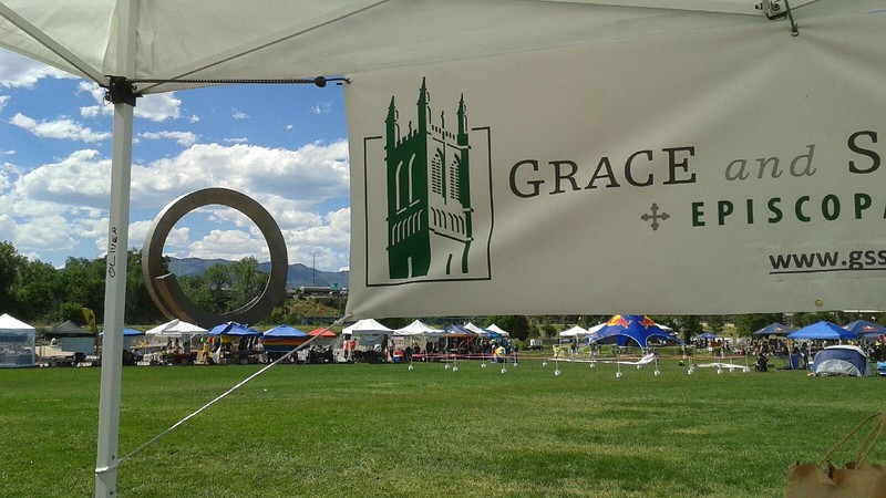 Putting up the Grace banner was easy.  Setting the ring took a little longer. :)