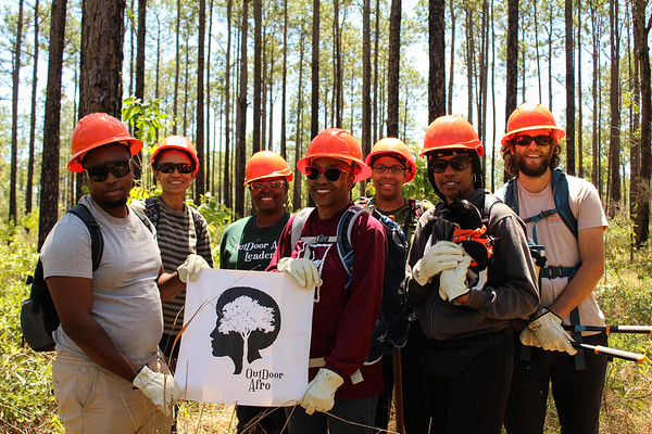Outdoor Afro 2019 Earth Day Trail Maintenance_Citrus Tract