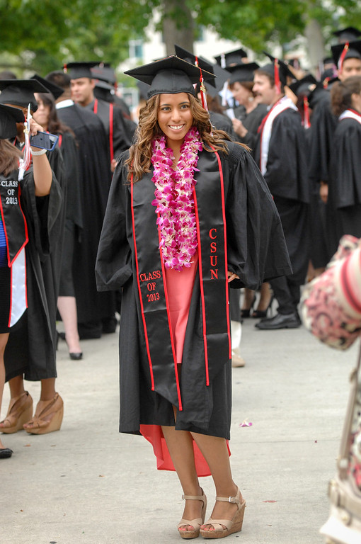 . CSUN commencement ceremony, Tuesday, May 21, 2013. (Michael Owen Baker/L.A. Daily News)