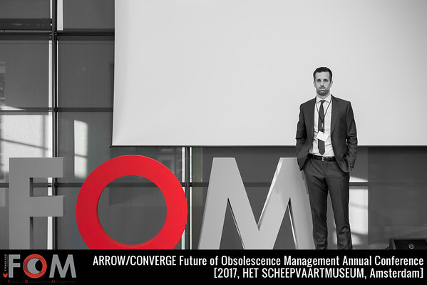 Portrait of Enda Ruddy, Global Director, Converge during the Future of Obsolescence Management (FOM) Conference in Hermitage Amsterdam [2015]