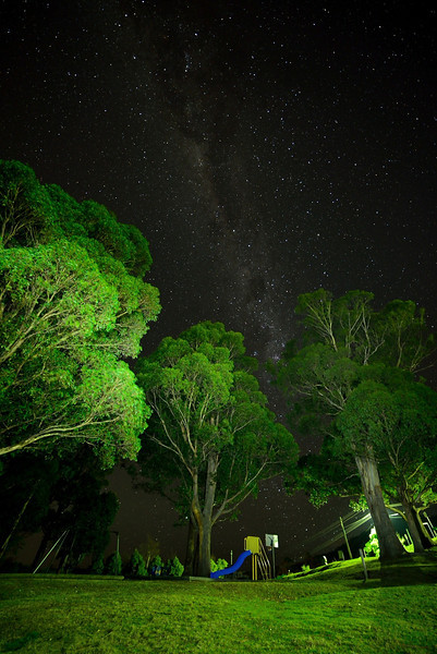 Milky Way galaxy, seen above the playground at Gray's Road, Fern tree