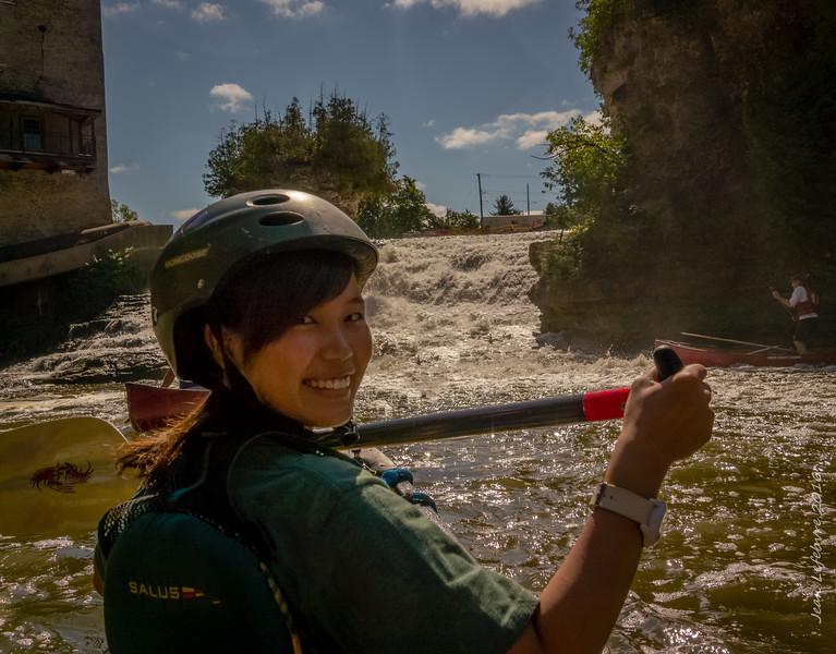 Sayo at the Elora Mill Falls