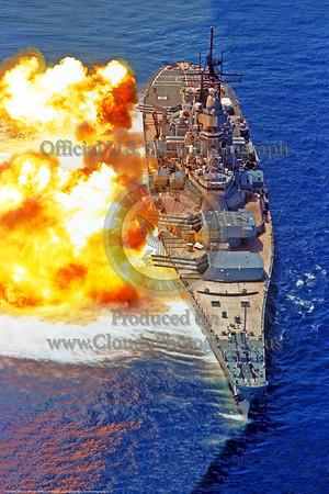 U.S. Navy USS Iowa (BB-61) World War II Era Fast Super Battleship Warship Pictures