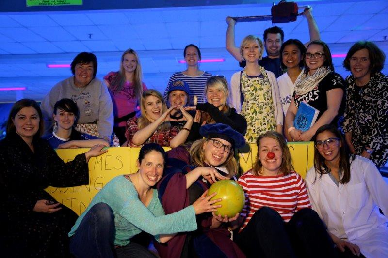 OT team at the Suicide prevention Bowl A Thon