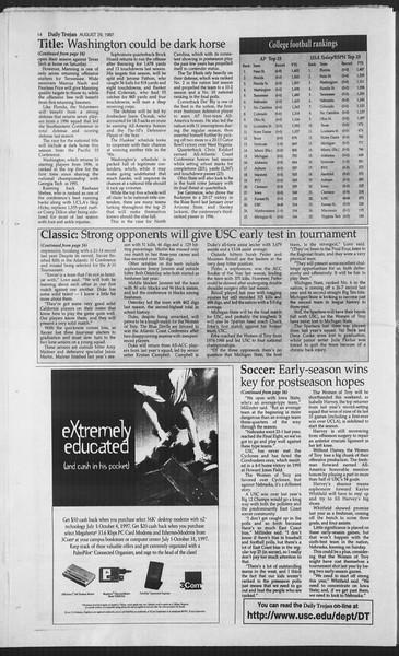 Daily Trojan, Vol. 132, No. 3, August 29, 1997