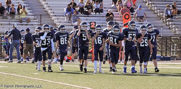 7th grade football action