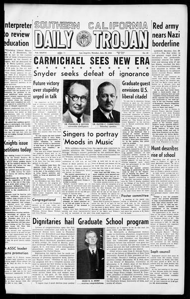 Daily Trojan, Vol. 36, No. 56, January 29, 1945