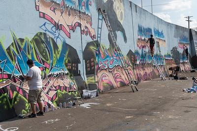 Paint Louis 20th Anniversary -Flood Wall Graffiti
