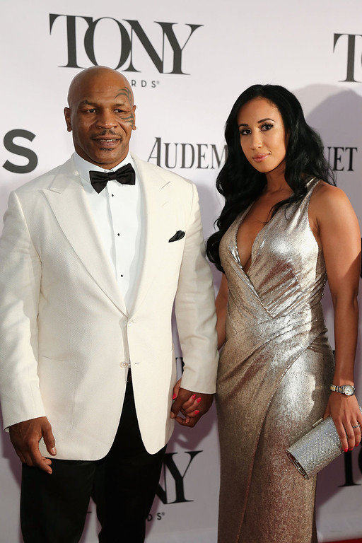 . Former boxer/actor Mike Tyson and Lakiha Spicer attend The 67th Annual Tony Awards  at Radio City Music Hall on June 9, 2013 in New York City.  (Photo by Neilson Barnard/Getty Images)