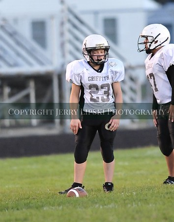 Football Sep12 Griffith Panther 8th Grade vs. Kahler