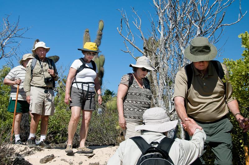 Xpedition group hiking at Dragon Hill, Santa Cruz Island