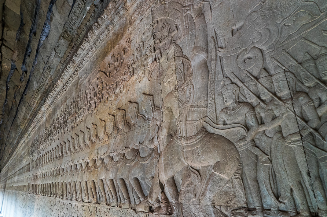 Angkor Wat Wall Carving