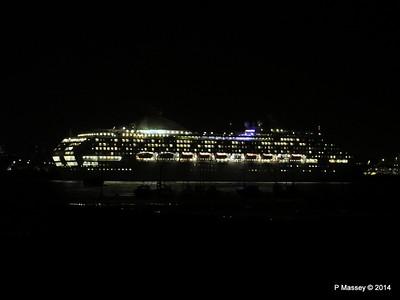 2 Jan 14 OCEANA, QUEEN VICTORIA, BOUDICCA at Night