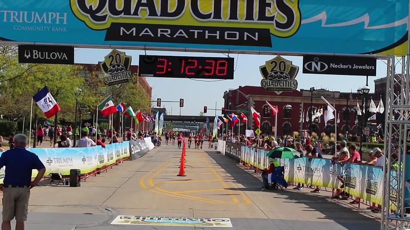 Quad Cities Marathon Relay Finish