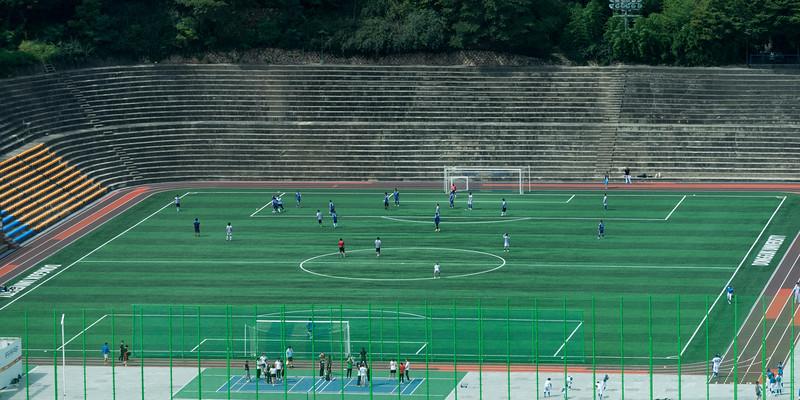 Soccer stadium seen from Shilla Hotel, Seoul, South Korea