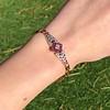 .86ctw Art Deco Ruby and Diamond Link Bracelet 1