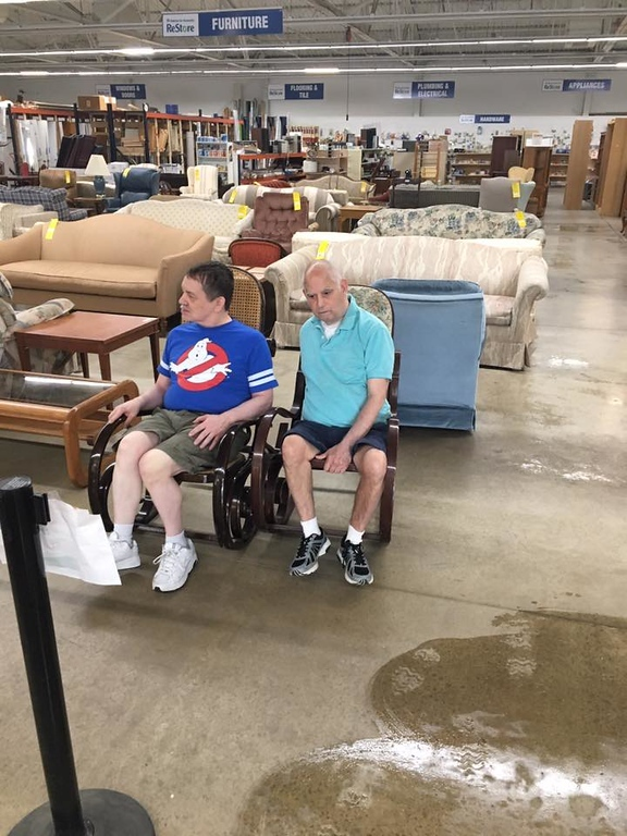 . Submitted <br> Tom Hogan and Tom Moran help at ReStore.