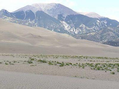 The Great Sand Dunes National Park, near Alamosa, Colorado.