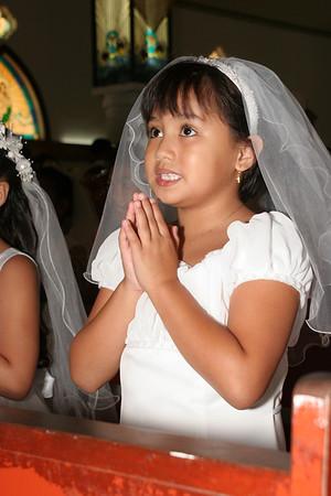 MCS Communion Girl Celebrant Candids