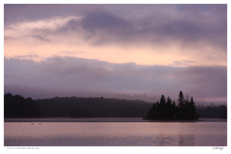 Sunrise on Adirondack Lake NY