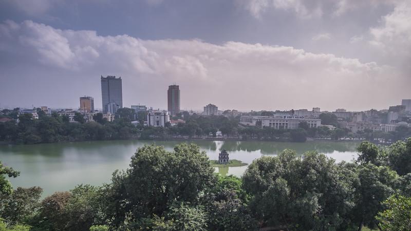A view of Hoan Kiem Lake