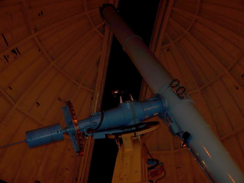 30 inch F-18.8 Thaw refractor. The mount for this intrument is clearly Warner and Swasey by appearence, but was fabricated by Brashear with permission.