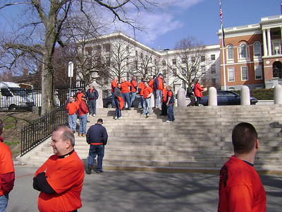 Firefighters March on the State House 4/14/2009