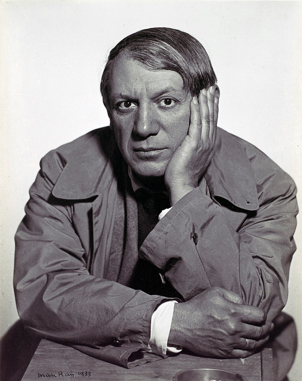 . This undated photograph provided by the Metropolitan Museum of Art shows Pablo Picasso as photographed by Man Ray in 1933. (AP Photo/ Metropolitan Museum of Art, Man Ray)