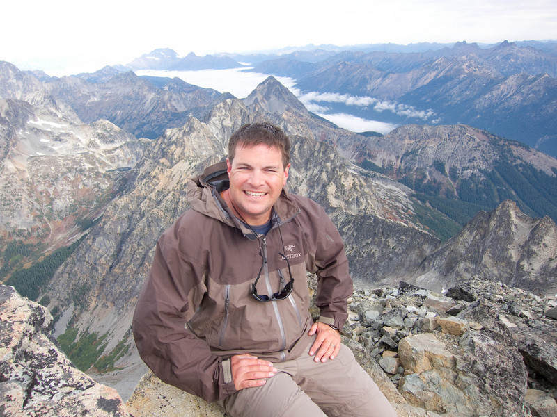 Sean on the summit