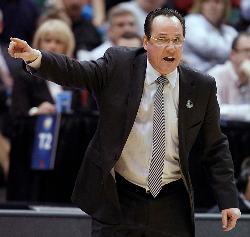 . Wichita State head coach Gregg Marshall directs his team during a second-round game in the NCAA college basketball tournament against Pittsburgh in Salt Lake City, Thursday, March 21, 2013. (AP Photo/George Frey)