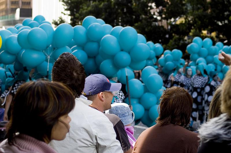 Balloons galore Santa Parade Auckland New Zealand - 27 Nov 2005