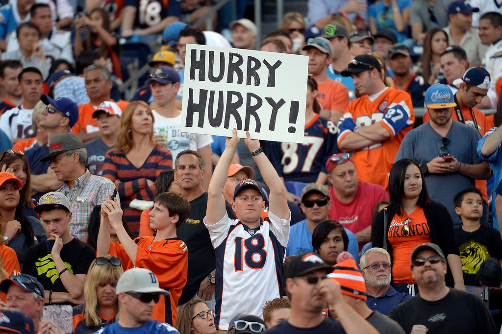 . Denver Broncos fans out in full force for the game agains the San Diego Chargers at Qualcomm Stadium. (Photo by John Leyba/The Denver Post)
