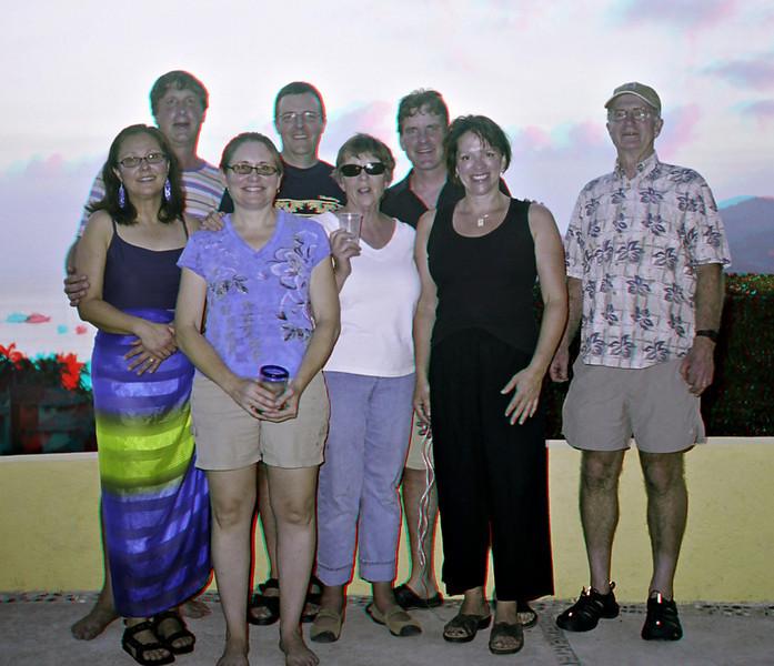 Menfolk (L to R): Norm, Rick, Ed, Dad; womenfolk (L to R): Mary, Shelly, Nancy, Anne.