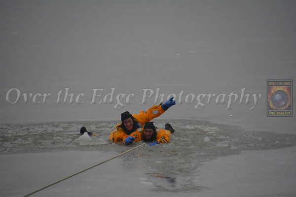 Glen Cove FD Ice Rescue Drill 2014