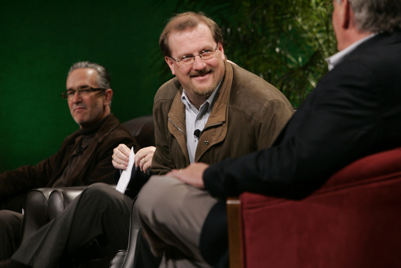 """Hotspots II,"" moderated by the BBC: (L-R) Ricardo Salinas, Grupo Salinas; Simon Hackett, Internode; and David Morris, EcoVerdance"