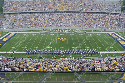 WVU vs East Carolina - Halftime Formations