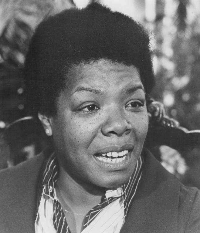 . Poet-autobiographer Maya Angelou talks about the changing spirit of the women\'s movement on the Turnabout program, Where We are Now, as the series presents a retrospective on women\'s struggles for equal rights, airing on 4/13 at 9:30 P.M, 1979. Turnabout is produced for the Public Broadcasting Service by KQED-TV/San Francisco and funded by 238 public television stations. Gerri Lange hosts. Felicia Lowe is correspondent. Denver Post Library photo archive